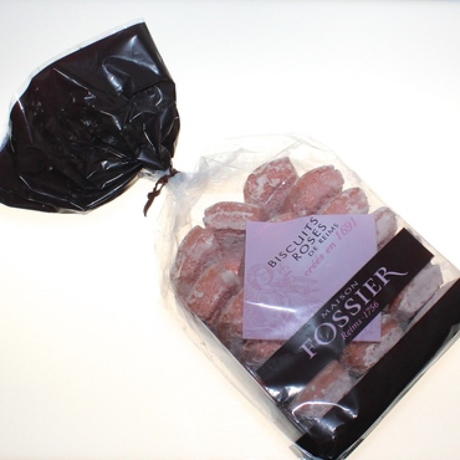 Maison Fossier Biscuits Roses De Reims French Pink Champagne Sachet By Brand