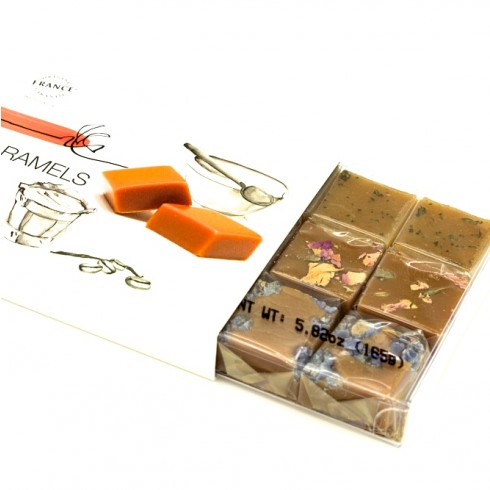 PARIS CARAMELS- 18 PC VERBENA, ROSE & VIOLET CARAMELS