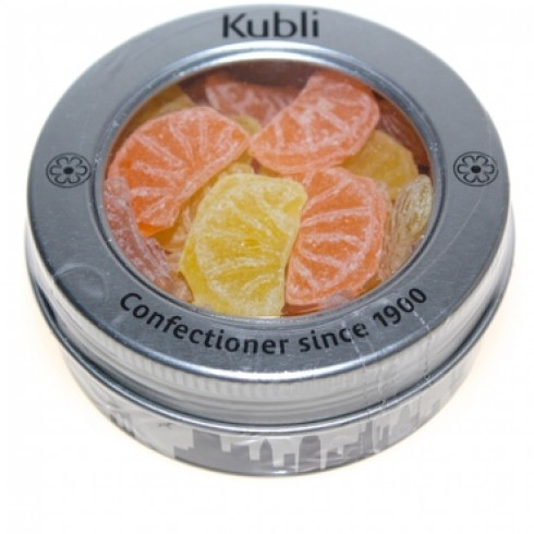 KUBLI ORANGE & LEMON SLICES IN A PARIS SKYLINE TIN