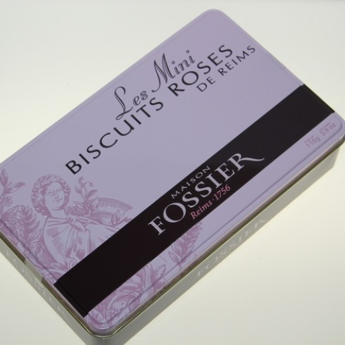 MAISON FOSSIER MINI PINK CHAMPAGNE BISCUITS TIN
