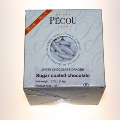PECOU WHITE CHOCOLATE DRAGEES