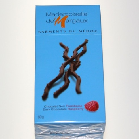 MADEMOISELLE DE MARGAUX DARK CHOCOLATE RAPSBERRY TWIGS