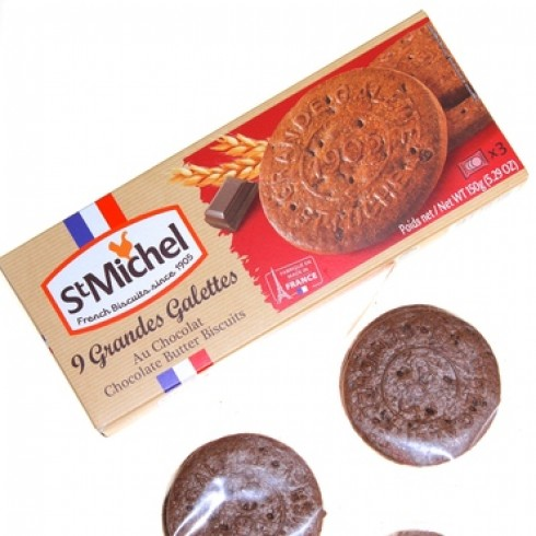 ST MICHEL GALETTE-BUTTER CHOCOLATE BISCUITS