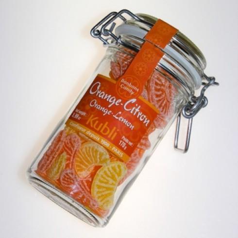 KUBLI ORANGE & LEMON SLICES IN A GLASS JAR