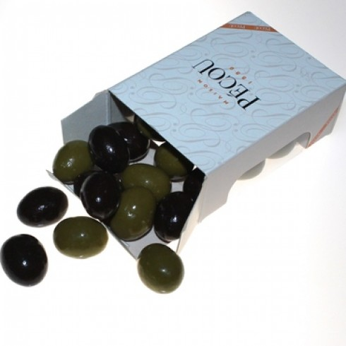PECOU OLIVE CHOCOLATES SMALL BOX