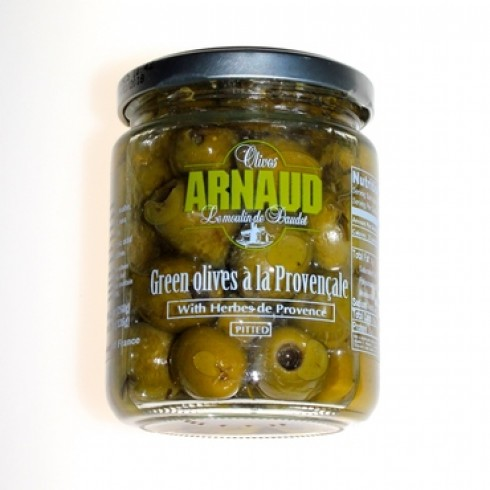 ARNAUD PITTED GREEN OLIVES