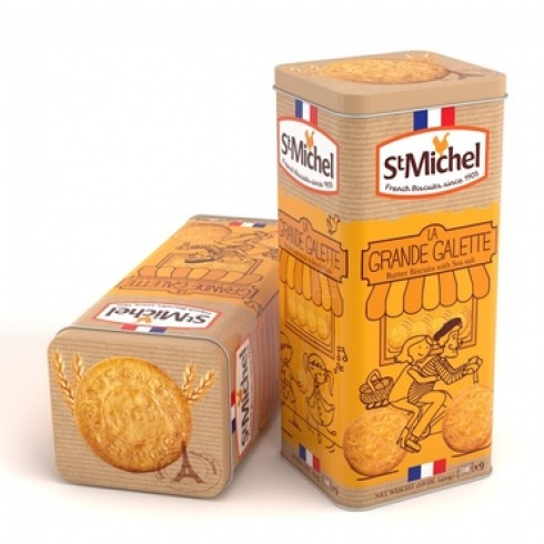 ST MICHEL GRANDE BUTTER GALETTES IN TIN